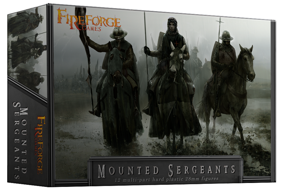 Mounted Sergeants (12 mounted plastic figures) - Fireforge Games FFG003