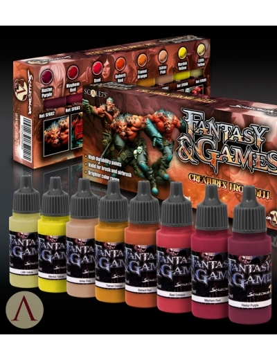 Creatures from Hell - Red to Yellow Paint Set - Rot zu Gelb Farbset - Scale75 070001SSE-014