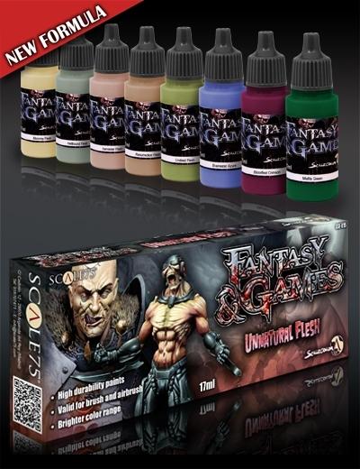 Unnatural Flesh - Fantasy&Games Paint Set - Farbset - Scale75 070001SSE-015