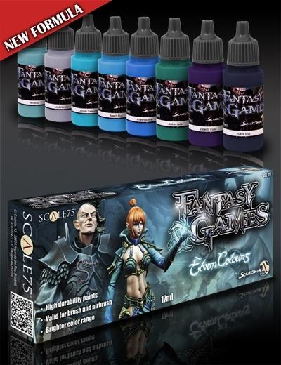 Elven Colors - Fantasy&Games Blue Paint Set - Blau Farbset - Scale75 070001SSE-017