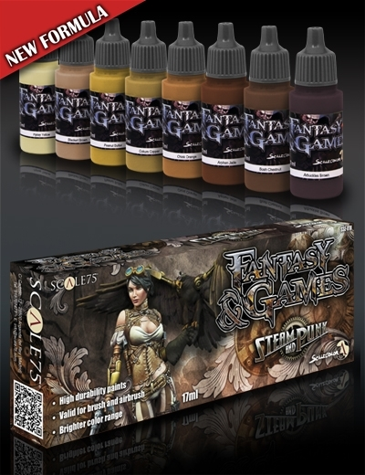 Steam and Punk - Fantasy&Games Brown Paint Set - Braun Farbset - Scale75 070001SSE-018