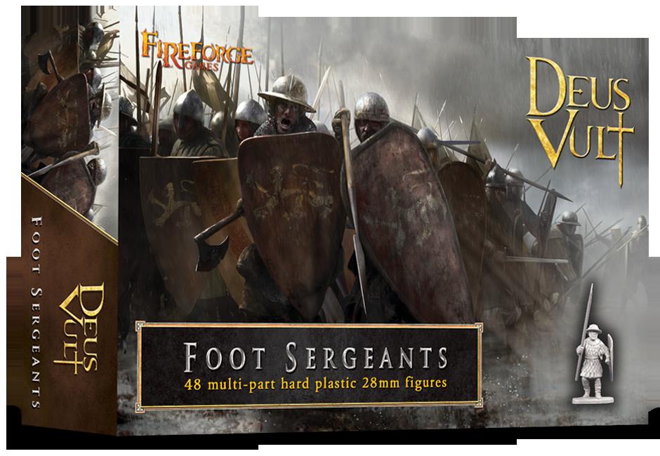 Foot Sergeants (48 infantry plastic figures) - Deus Vult - Fireforge Games FFG004