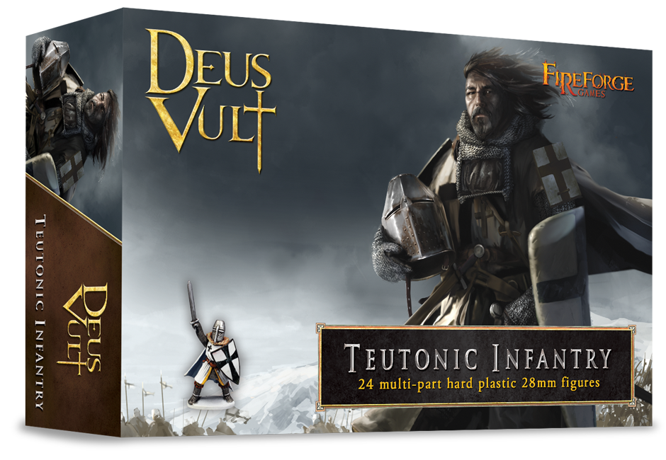 Teutonic Infantry (24 infantry plastic figures) - Deus Vult - Fireforge Games FFG005