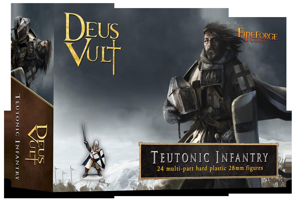 Teutonic Infantry (24 infantry plastic figures) - Deus Vult - Fireforge Games
