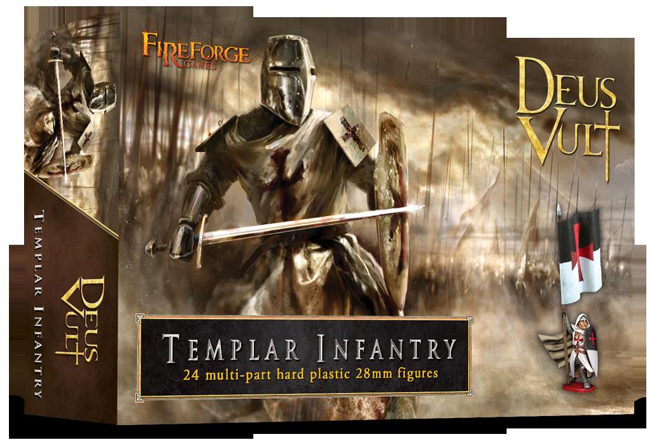 Templar Infantry (24 infantry plastic figures) - Deus Vult - Fireforge Games FFG006