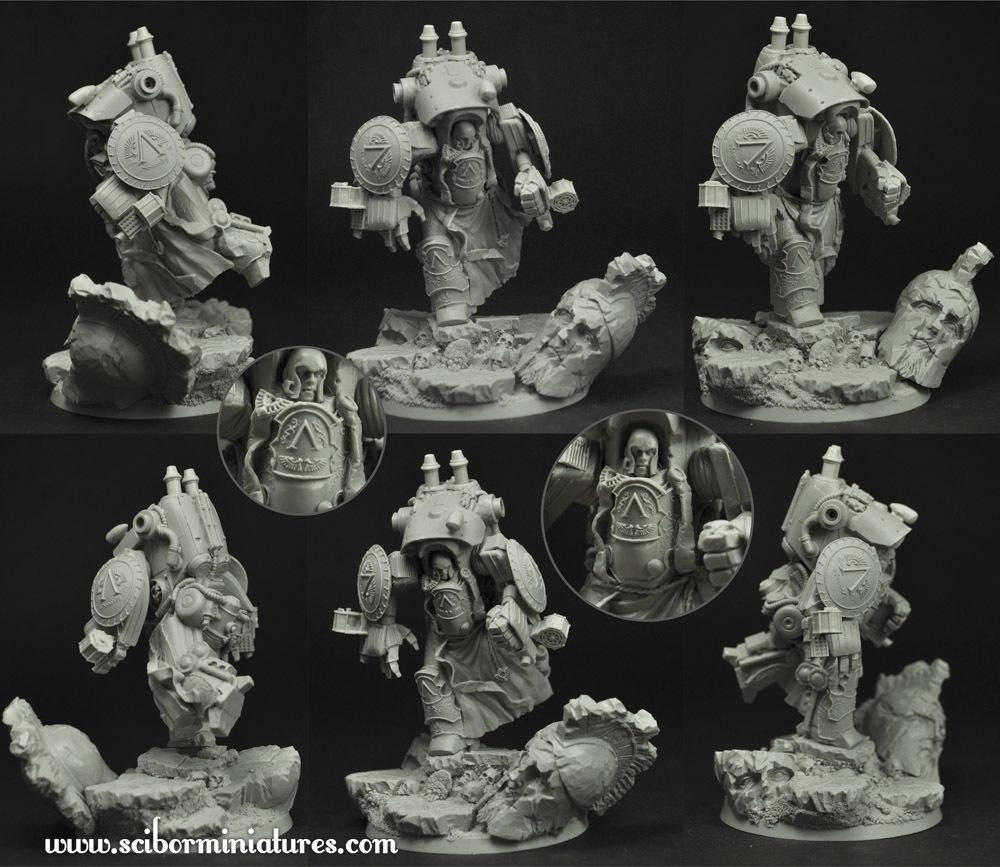 Spartan Cruiser Mech Suit #1 - Scibor Miniatures