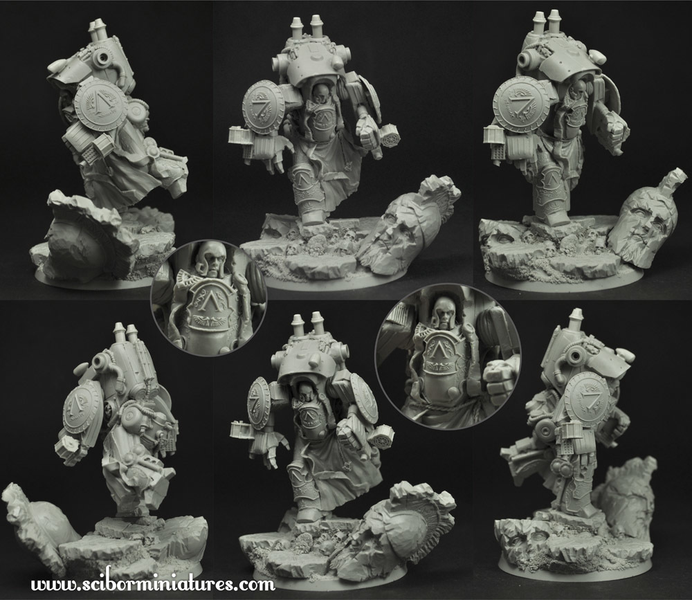 Spartan Cruiser Mech Suit #1 - Scibor Miniatures 09000128SF0119