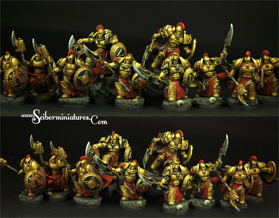 SF Spartan Warriors 10 figures set - Scibor Miniatures 09000128SF0143