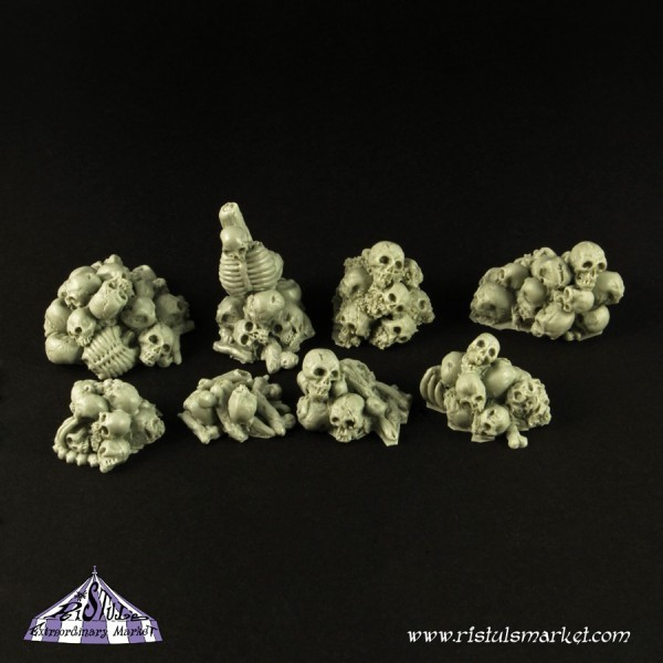 Bones and Skulls Piles (10) - Scenics - Ristul