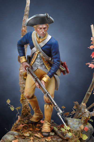 US Revolutionary Infantryman, 1780 - 54mm - Andrea Miniatures