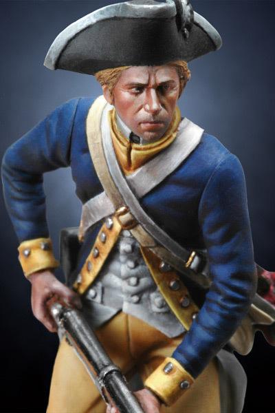 US Revolutionary Infantryman, 1780 - 54mm - Andrea Miniatures