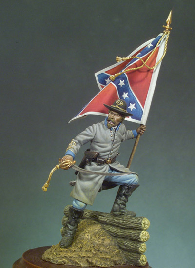 Confederate Standard Bearer (1862) - 54mm - Andrea Miniatures SG-F46
