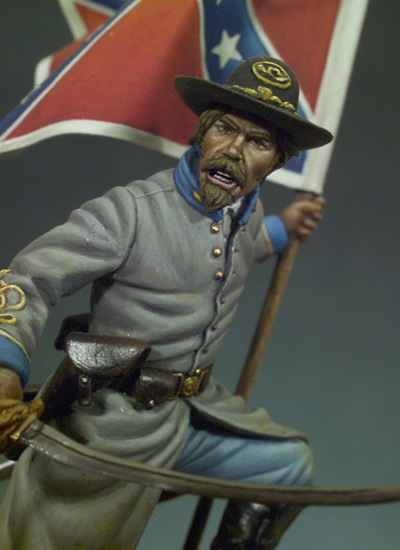 Confederate Standard Bearer (1862) - 54mm - Andrea Miniatures