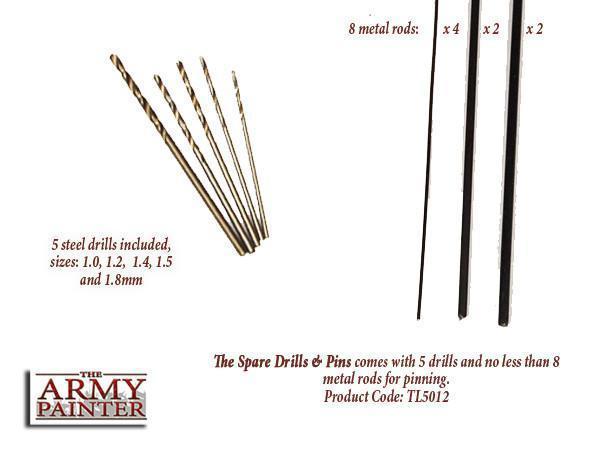 Spare Drills & Pins - Ersatzbohraufsätze - Army Painter Tools AP-TL5012