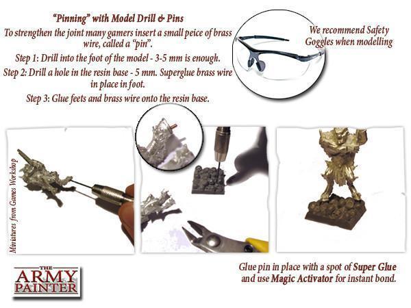 Spare Drills & Pins - Ersatzbohraufsätze - Army Painter Tools