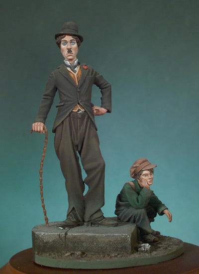 The kid and the tramp - 54mm - Andrea Miniatures SG-F79