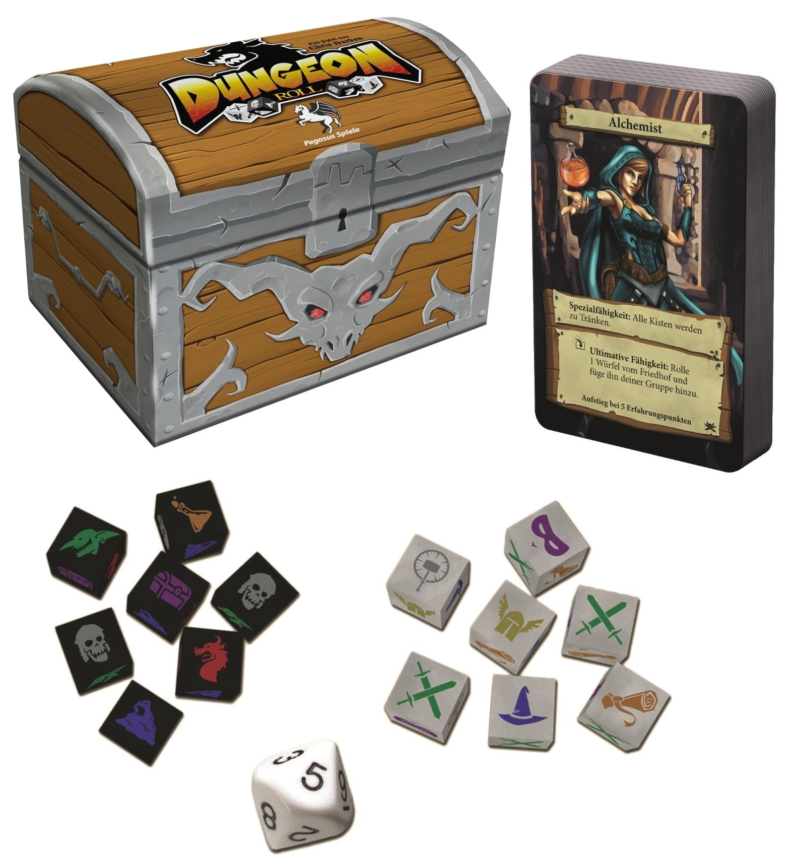 "Dungeon Roll, 2. Edition inkl. ""Neue Helden""-Booster - Würfelspiel - Pegasus Spiele 4250231709104"