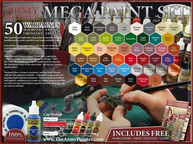 Warpaints Mega Paint Set 2017 (Neu) - Army Painter Warpaints