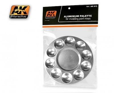 Aluminum Pallet 10 Wells - Mischpalette - AK Interactive