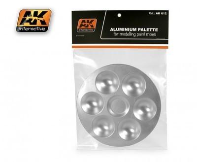 Aluminum Pallet 6 Wells - Mischpalette - AK Interactive
