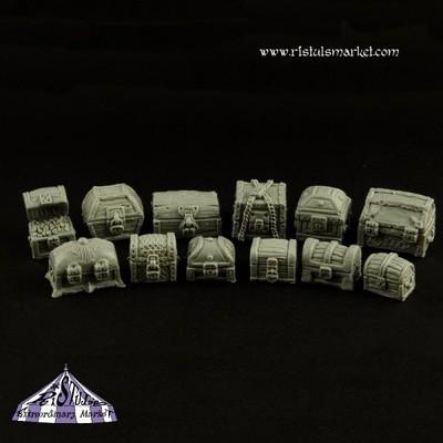Fantasy Treasure Chests Kit (12) - Scenics - Ristul