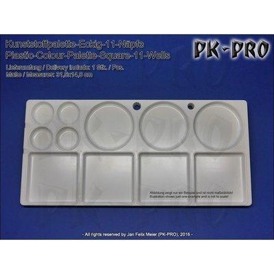 TS-Kunststoffpalette-Eckig-11-Näpfe-(31,5x14,8cm) - PK-Pro