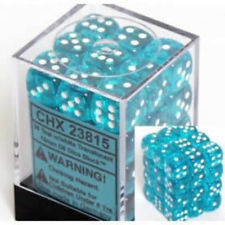 Türkis/Weiss - Translucent 12mm D6 Dice Block™ (36) - Chessex