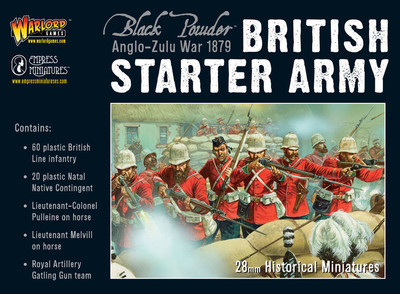 AZW British Starter Army - Anglo-Zulu War Black Powder - Warlord Games