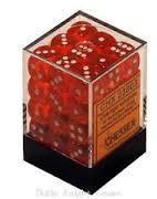 Orange/Weiss - Translucent 12mm D6 Dice Block™ (36) - Chessex