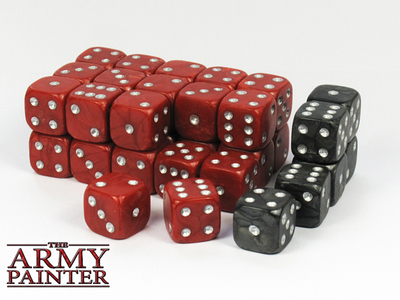Wargamer Dice - Red with Black - Würfel - Army Painter