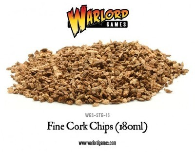 Fine Cork Chips (180ml) - Warlord Games