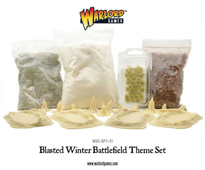 Blasted Winter Battlefield Theme Set - Warlord Games