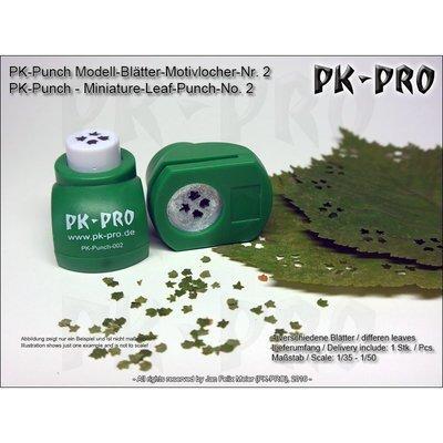 PK-Punch - Modell-Blätter-Motivlocher-Nr. 2 - (4xBlätter-Mix) - PK-Pro