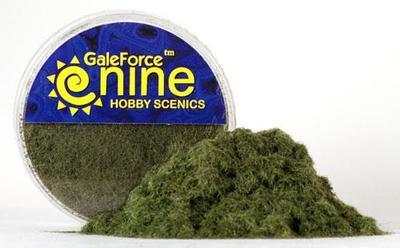 Hobby Round: Dark Green Static Grass - Gale Force 9
