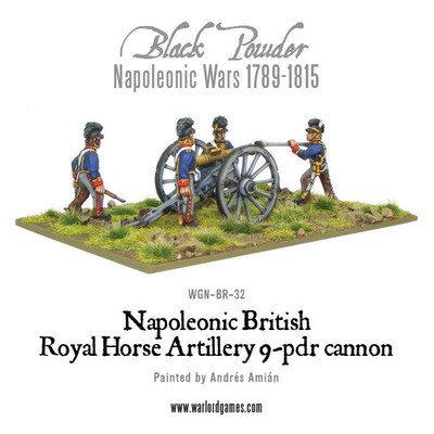 Napoleonic British Royal Horse Artillery 9-pdr cannon - Black Powder - Warlord Games