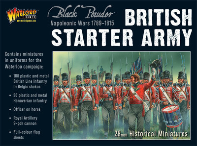 British Starter Army (Waterloo) - Black Powder - Warlord Games