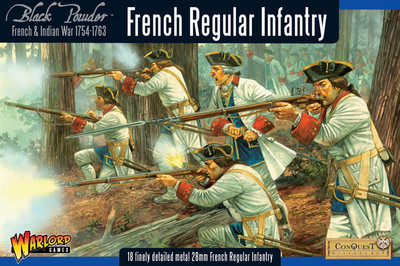 French-Indian War French Regular Infantry - Black Powder - Warlord Games