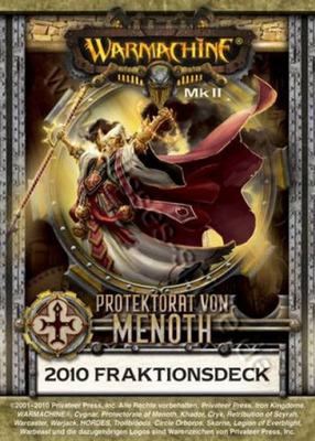 Protektorat von Menoth MKII Kartenset - Fraktionsdeck 2010 - Warmachine - Privateer Press