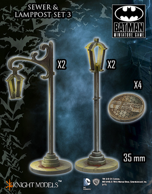 Sewer and Lamppost Set 3 - Batman Miniature Game