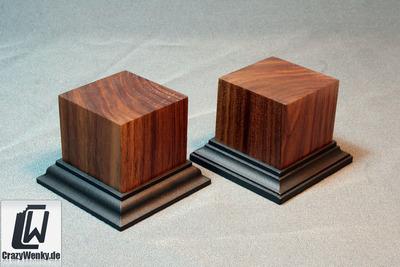 Holzsockel 50x50mm (55mm Höhe) Nussbaum  - CrazyWenky