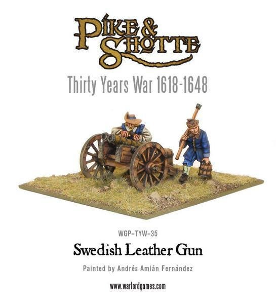 Swedish Leather Gun & Crew - Pike & Shotte - Warlord Games