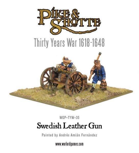 Swedish Leather Gun & Crew - Pike & Shotte - Warlord Games