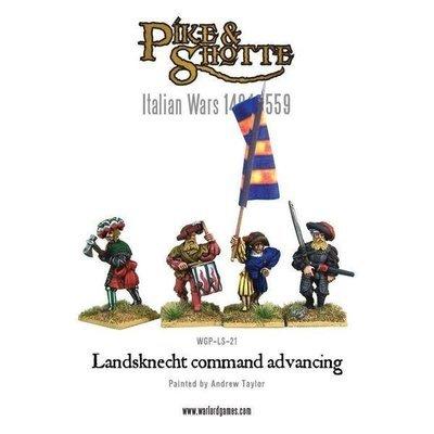 Landsknecht command advancing - Pike & Shotte - Warlord Games