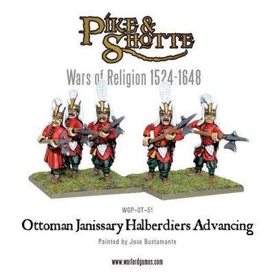 Ottoman Janissary Halberdiers Advancing - Pike & Shotte - Warlord Games