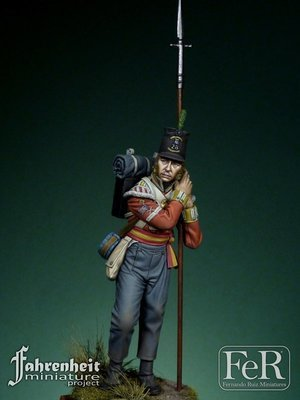 28th Regiment of Foot Sergeant, Quatre Brass, 1815 - FeR Miniatures