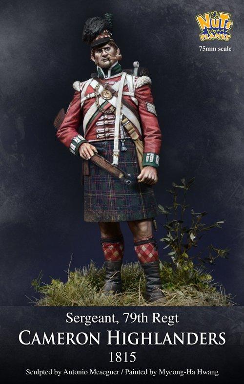 Cameron Highlanders, Sergent 1815, 79th Regt - Nutsplanet