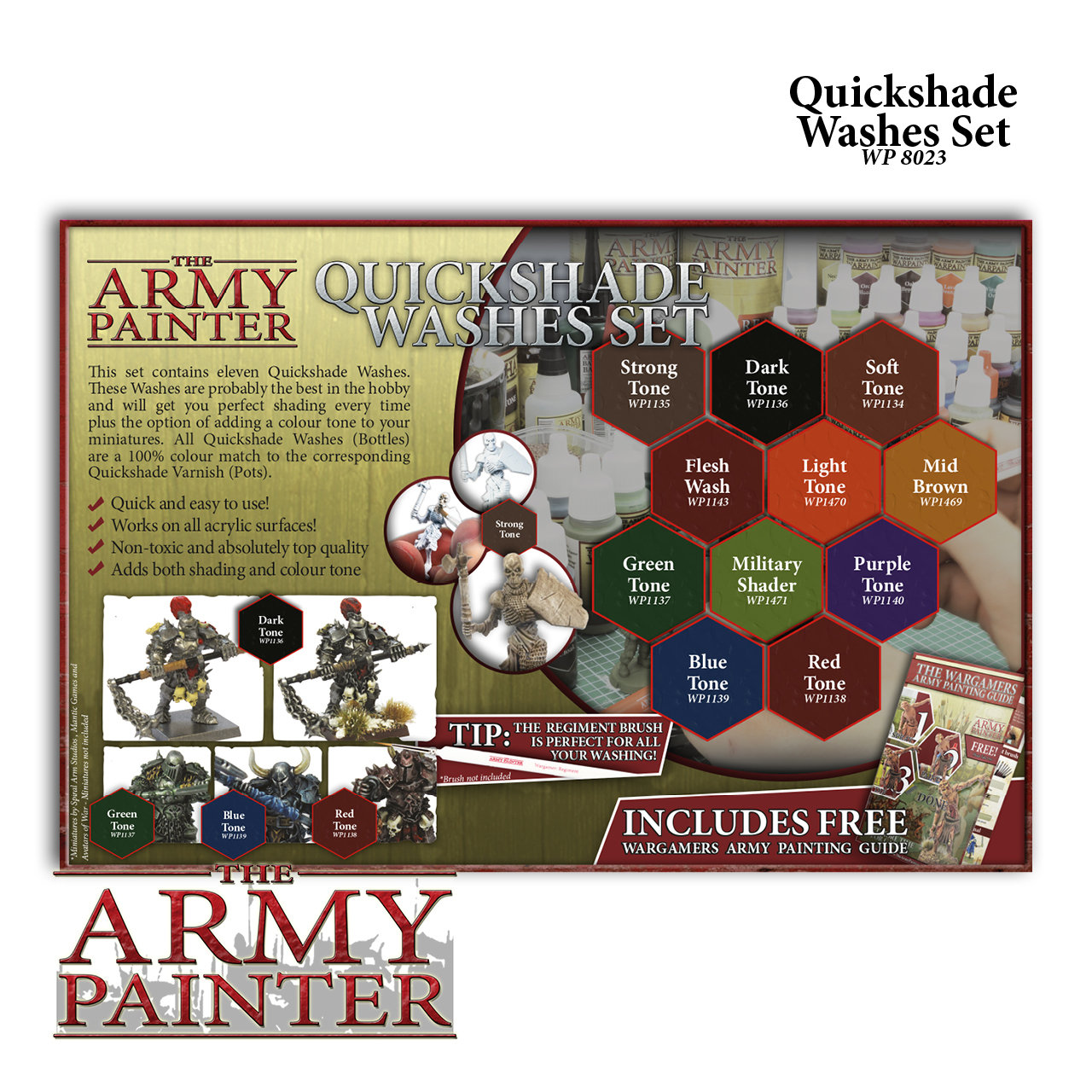 Warpaints Quickshade Washes Set - Army Painter Warpaints