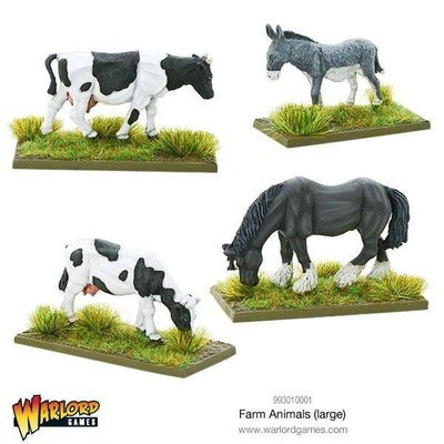 Farm Animals (large) - Tiere - Kuh, Pferd, Esel
