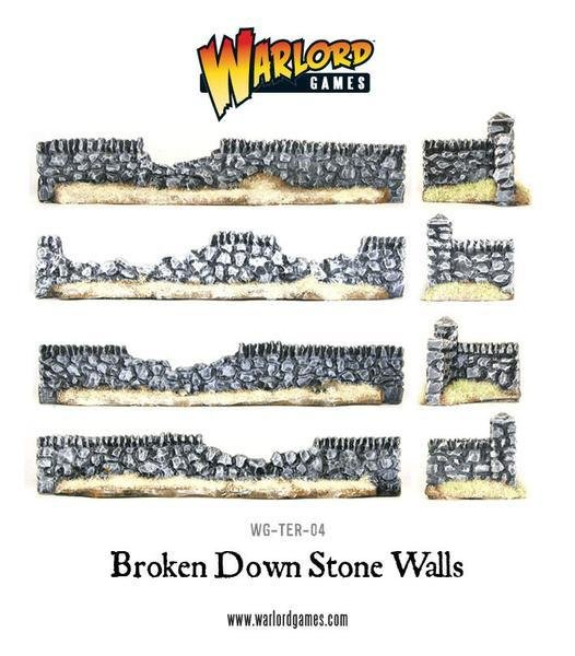 Rorke's Drift Damaged Stone Walls - Warlord Games