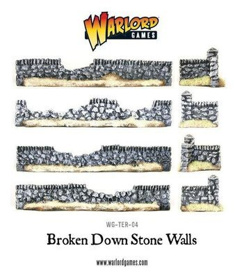 Rorke's Drift Damaged Stone Walls - Warlord Games